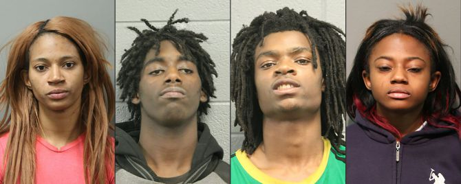 The four suspects in the torture streamed live on Facebook were ordered held without bail Friday. (Chicago Police Department)
