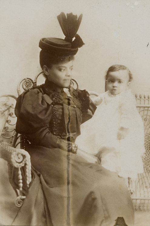 Ida B. Wells with her son, Charles Aked Barnett, about a year after she was married. (Credit: University of Chicago Library, Special Collections Research Center.)