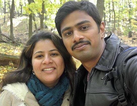 Srinivas Kuchibhotla is survived by his wife, Sunayana Dumala. (Credit: Facebook)