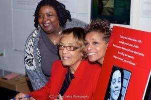 Barbara Reynolds, center, and fans. (Credit: Don Baker)