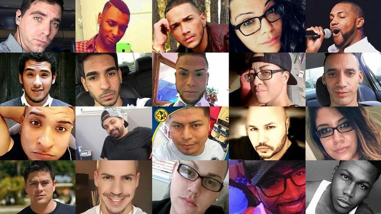 Faces of some of the Orlando nightclub victims (Credit: Orlando Sentinel)