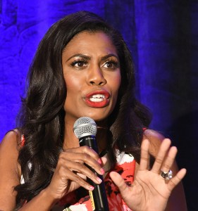 Omarosa Newman at last month's convention of the National Association of Black Journalists. (Credit: Jason Miccolo Johnson)
