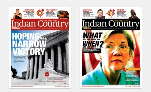 An earlier version of the Indian Country print magazine had a circulation of about 15,000 in 2013.