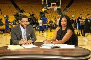 Jemele Hill and co-host Michael Smith (Credit: ESPN)