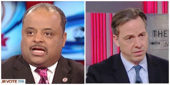 Roland Martin, left, and Jake Tapper (Credit: Mediaite)