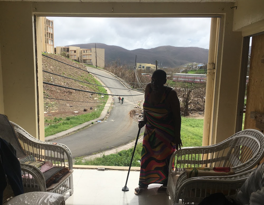 Leonise Greig-Powell was living in a destroyed complex until the Virgin Islands Daily News wrote about her plight. Then the government moved her. (Credit: Virgin Island Daily News)