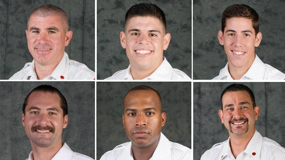 Several Miami firefighters are accused of taking an African American lieutenant's family photos from inside a fire station, removing them from their picture frames and drawing penises on them. The pictures were reinserted in their frames and then placed back on a shelf, according to termination letters. A noose made of thin white rope was then hung over one of the photos. (Credit: Miami Herald)