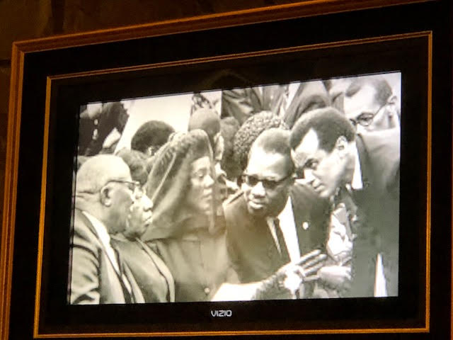Charles covered the funeral of Martin Luther King Jr., in 1968, part of the slide show. (Credit: Marilyn Yee)