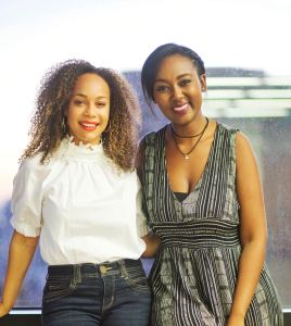 Morgan DeBaun, founder of Blavity, left, and Lilly Workneh