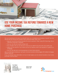 FARM: Use your income tax refund towards a new home ...
