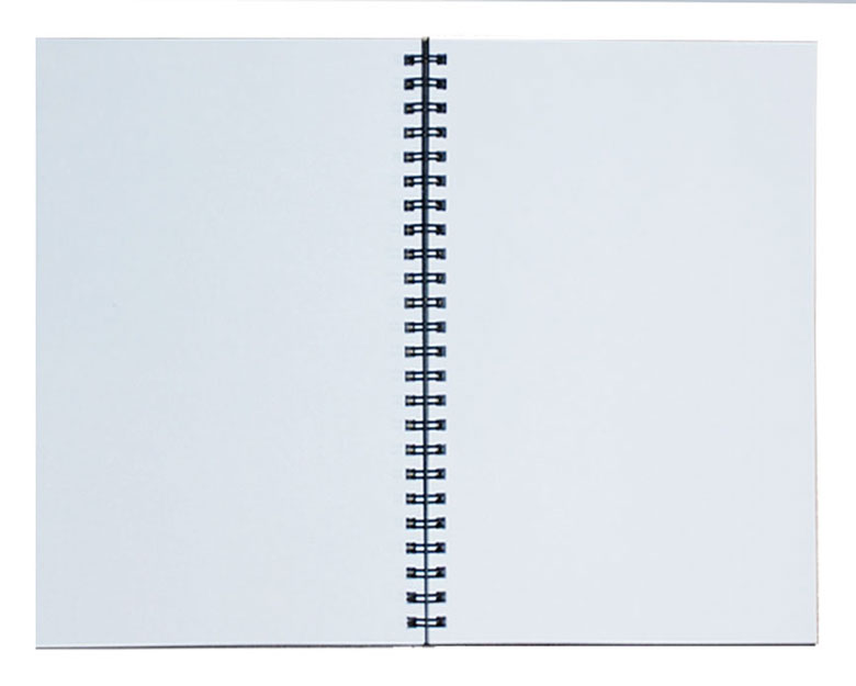 Wirebound Refills, Lined and Blank Journal Refills - blank diary page