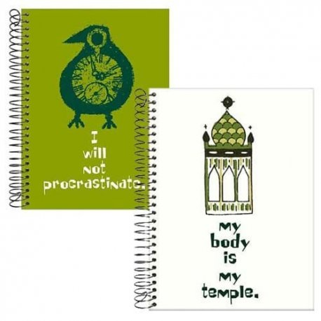 Motivational Notebook Journals/Set of 2-My body is My temple AND I