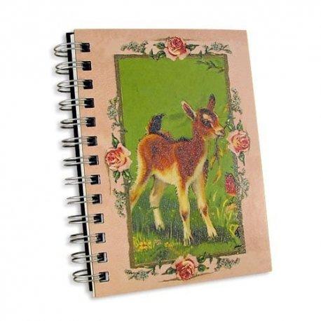 Nostalgic Kid 5x7 Notebook Journal-double spiral bound glitter
