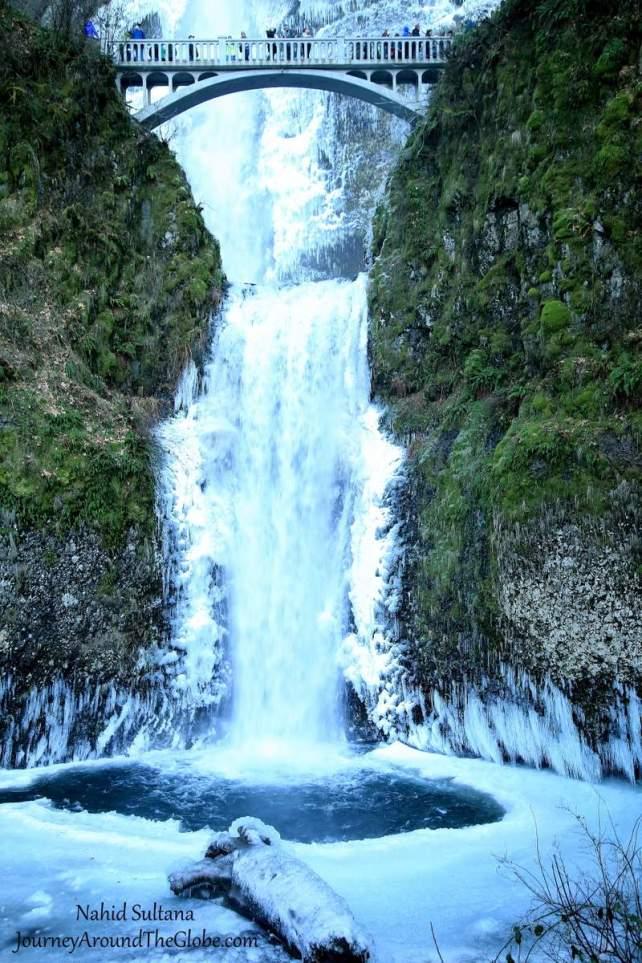 Multnomah Falls Oregon Winter Wallpaper Multnomah Falls Historic Columbia River Hwy Journey