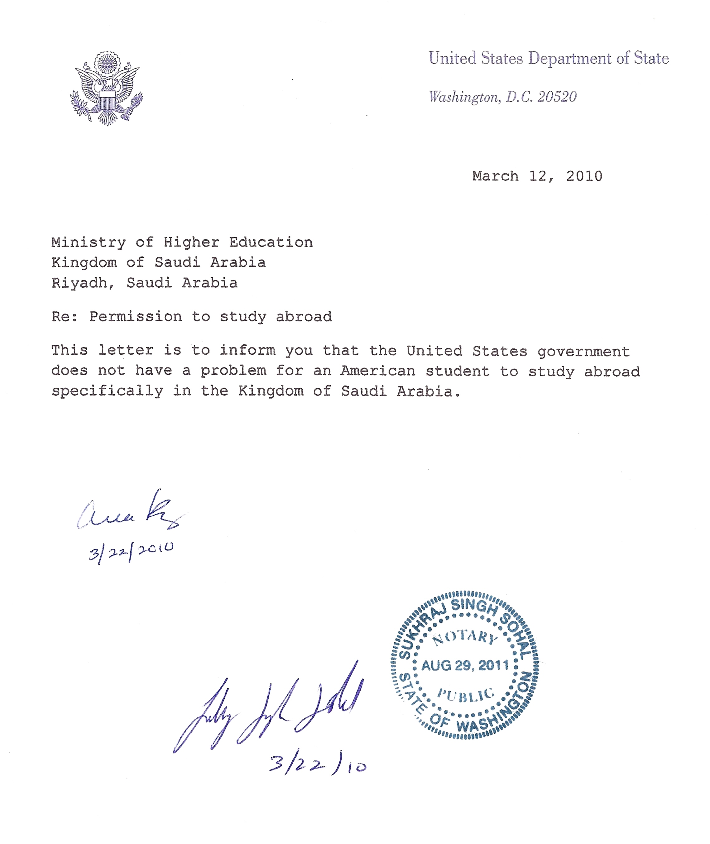 Attached Document In Letter | Professional Reference Letter