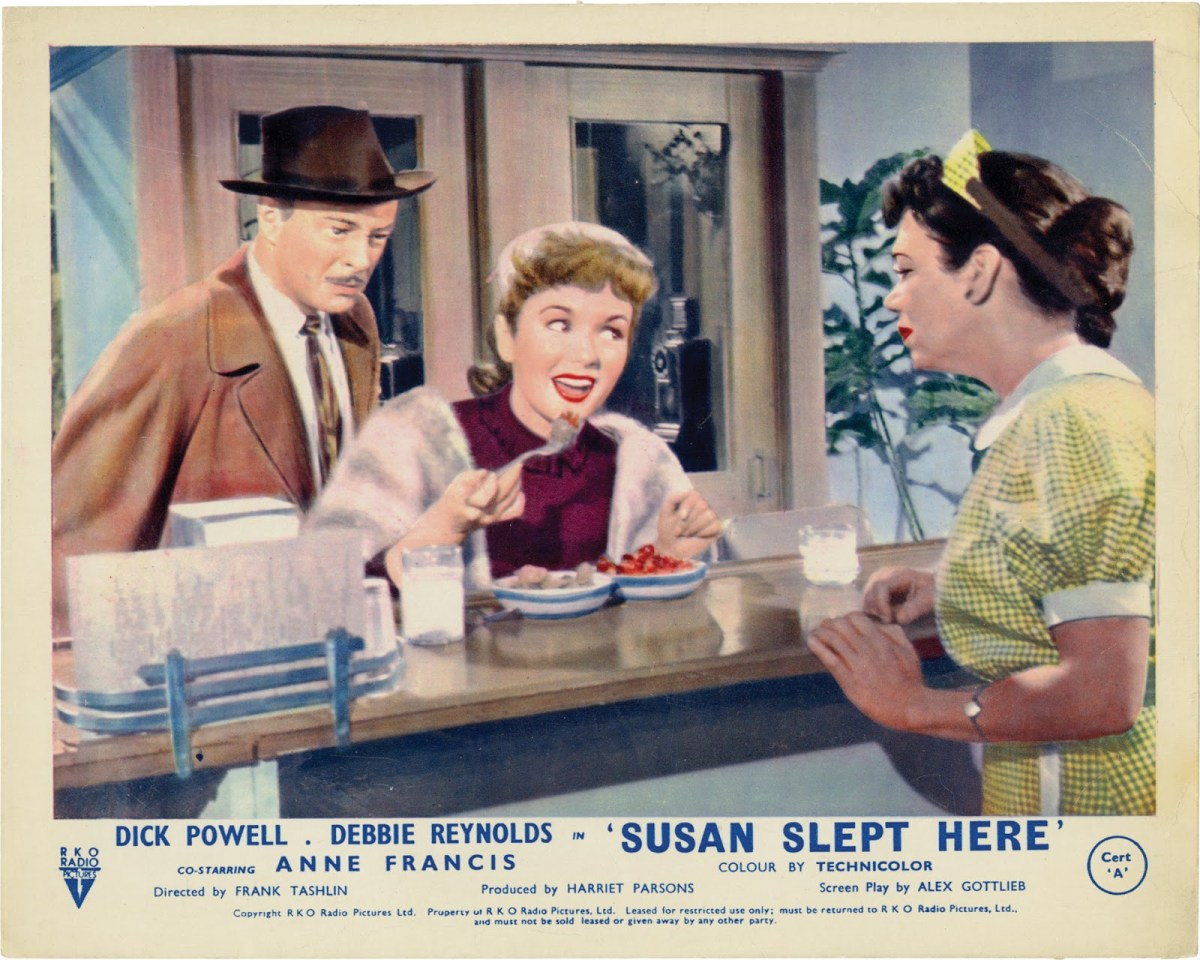 Fridays Menu Fridays With Debbie Reynolds: Susan Slept Here (1954