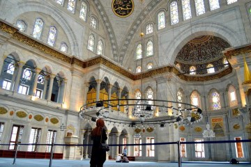 Inside of a Mosque, Istanbul