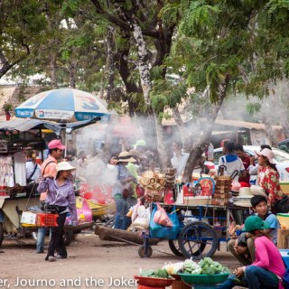 Street food at Khmer New Year celebrations