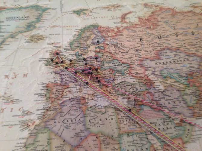 Maps Journology - pins on a map