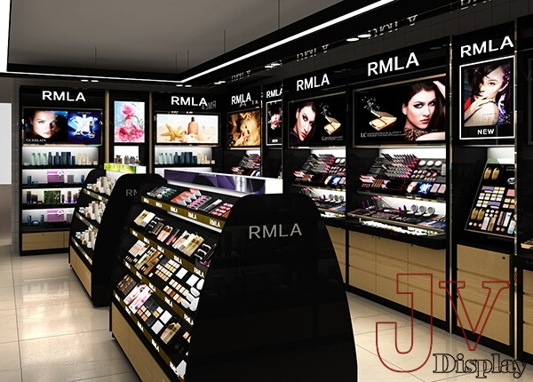 Wooden Shelving Units Cosmetic Retail Display For Cosmetic Store Display Design