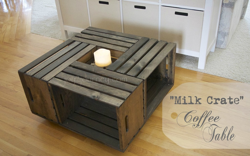 "Wohnzimmertisch Obstkisten Building A ""milk Crate"" Coffee Table 