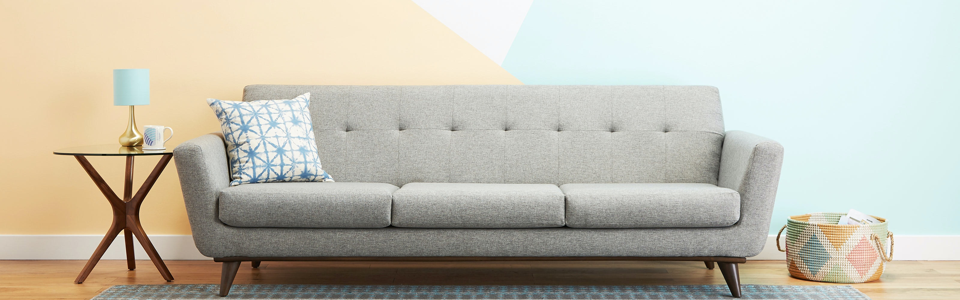 Grey Sofa In Lounge Sofas Couches Buy A Customized Sofa Joybird
