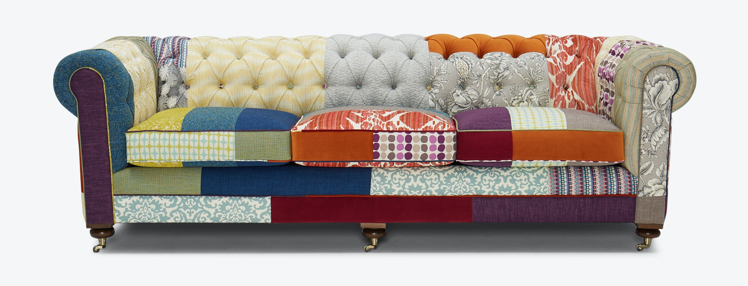 Patchwork Sofa Liam Patchwork Sofa Brooklyn Edition Joybird
