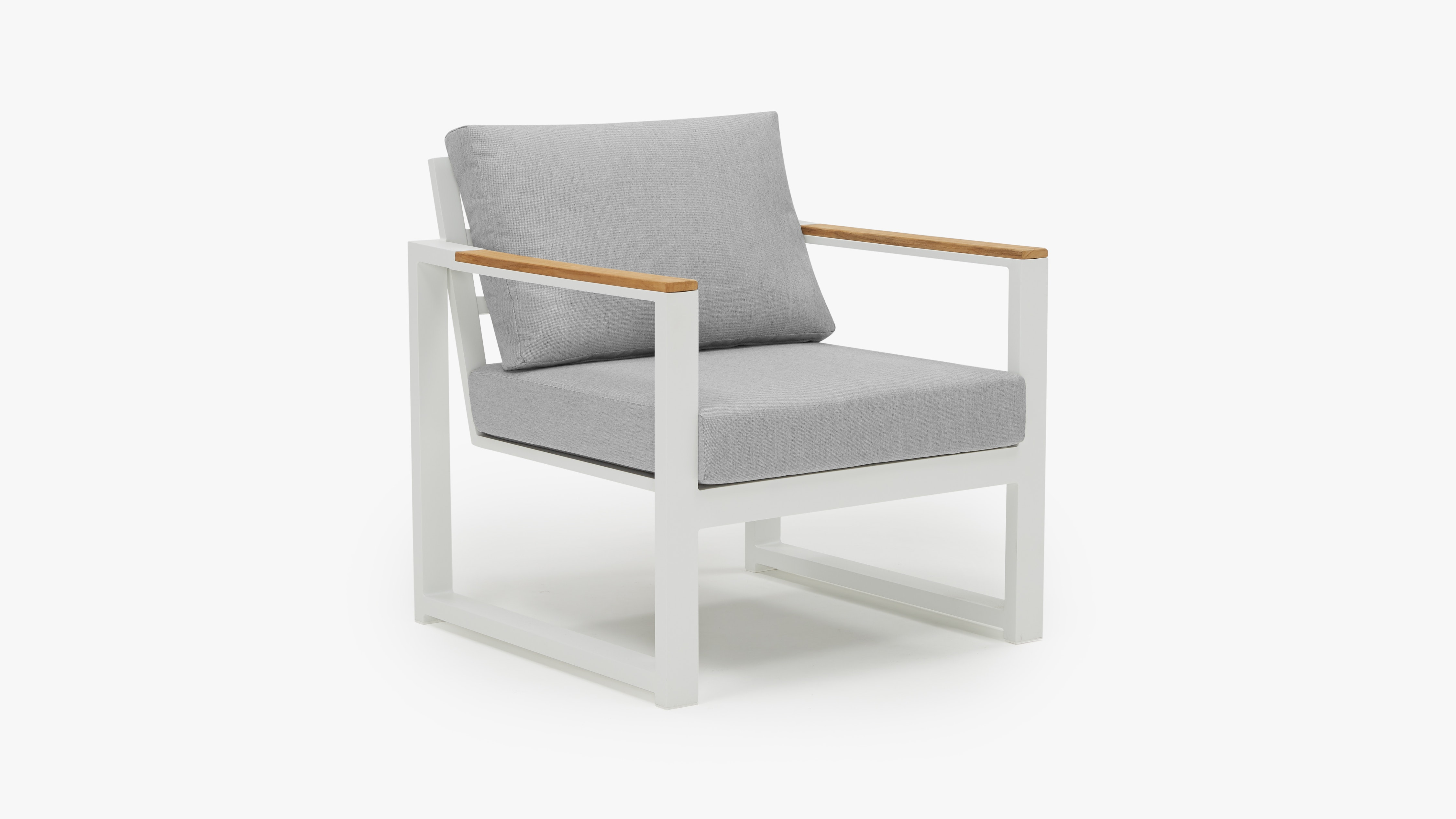 Papasan Sessel Alu White Outdoor Chair