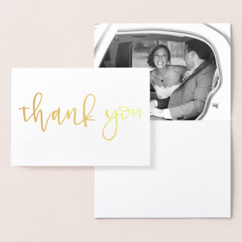 Personalized Gold Foil Wedding Thank You Card - Joy By Jess