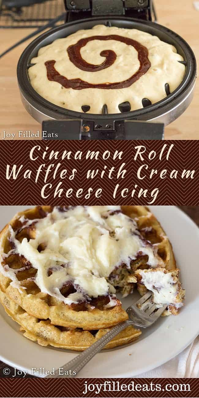Cinnamon Roll Waffles with Cream Cheese Icing - My Cinnamon Roll ...