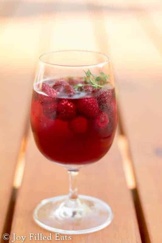 Summer means sangria around here. This Low Carb Raspberry Sangria is sugar free, has only 5 net carbs per serving, and is Trim Healthy Mama friendly.