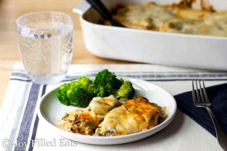 Tuscan Chicken Casserole - Low Carb, Grain/Gluten Free, THM S