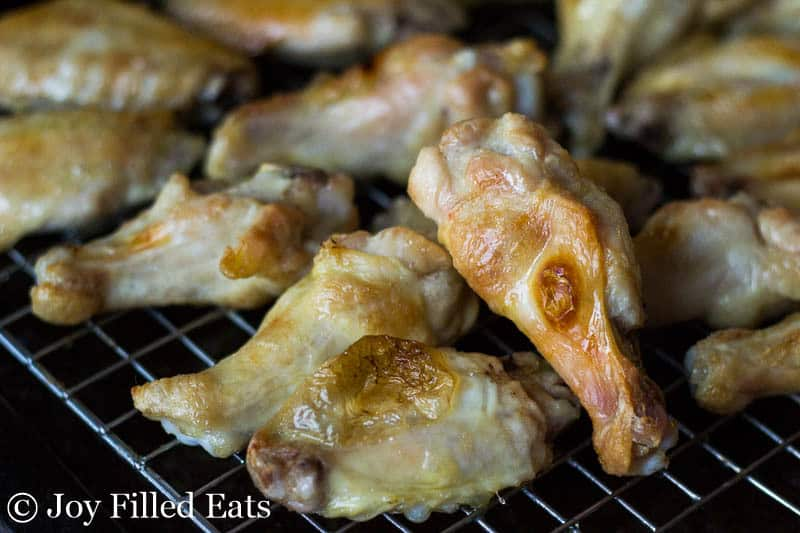 Oven Baked Parmesan Garlic Wings - Low Carb, Gluten Free, THM S