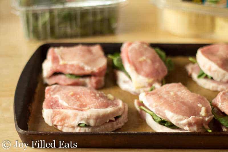 Stuffed Pork Chops - 5 Ingredients, 5 Minute Prep