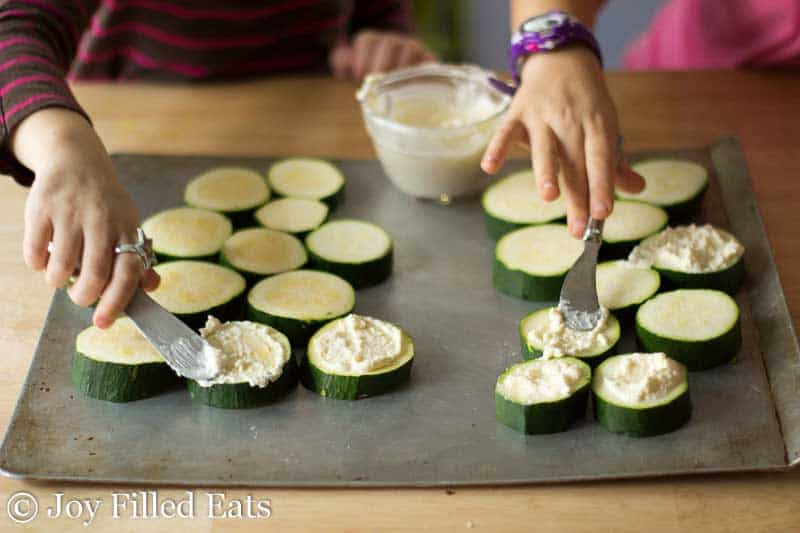My little helpers. This is a great recipe to let kids help with.