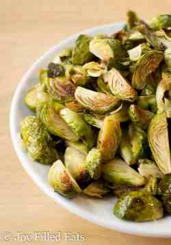 Terrific A Bowl Roasted Brussels Sprouts Close Up Garlic Roasted Brussels Sprouts Garlic Low Carb Keto Thm Joy Filled Eats Brussel Sprouts Keto Diet Brussel Sprouts Keto Casserole