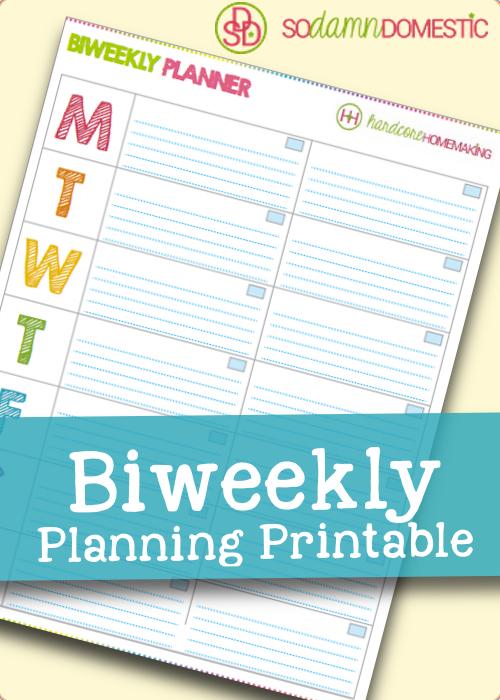 Printable Biweekly Planner - Joyful Abode