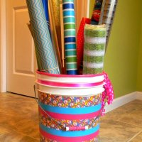 Duck Tape Wrapping Paper Storage Bin