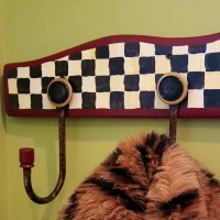 HOW TO WHIP UP A MACKENZIE CHILDS STYLE COAT HOOK BOARD