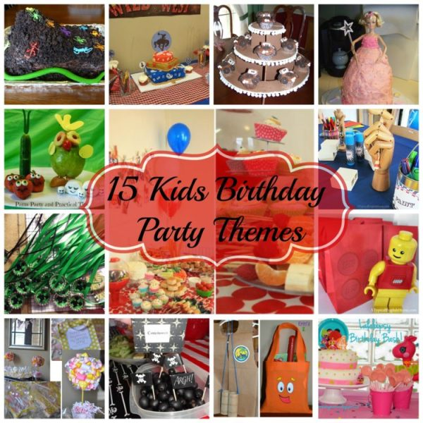 birthday party collage 600x600 Kids Birthday Party Ideas