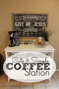 Cute & Simple Coffee Station - Joyfully Prudent