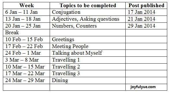 study timetable « Joyful 阅
