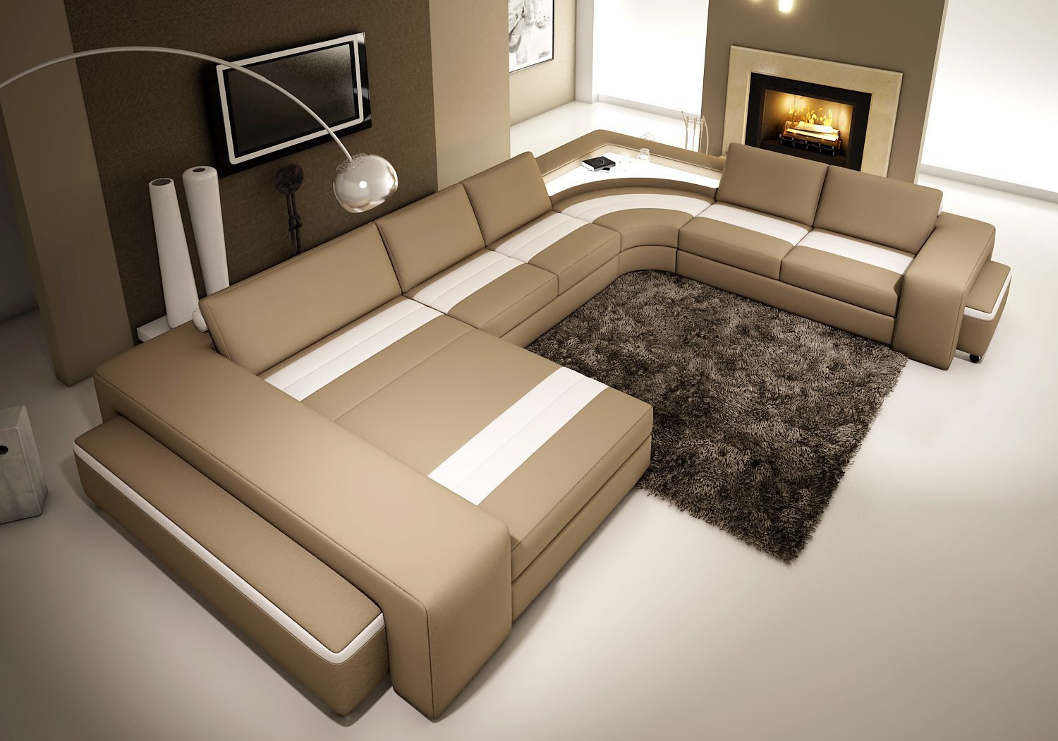 Contemporary U Shape Sofa Joy Furniture