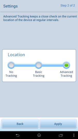 tracking location