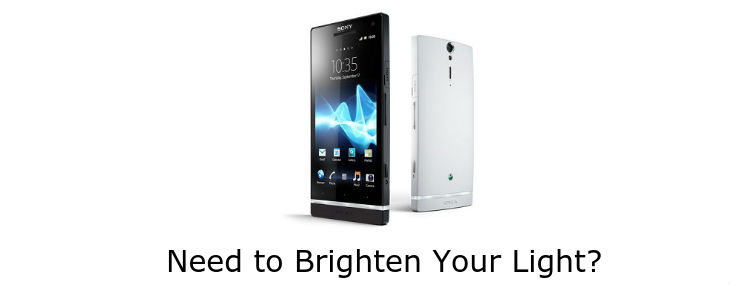 boost the LED light on your Xperia smartphone