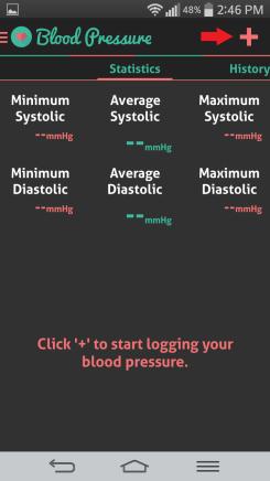 HI health tracker blood pressure