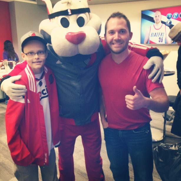 Thomas and James at Blazers game 11.11.14