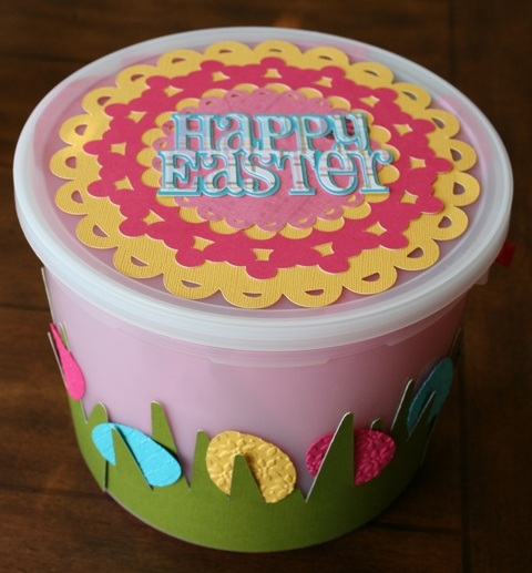 From Ice Cream Bucket to Easter Basket with Cricut