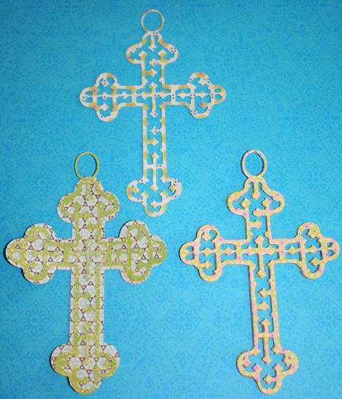 Cricut Easter Cross with Hanger