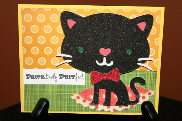Pawsitively Purrfect Cat Card